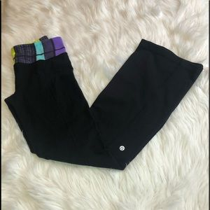 Lululemon Multi/Colored Waistband Yoga Pants